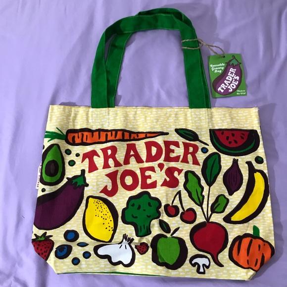 Trader Joes Handbags - NEW 100% COTTON TRADER JOE'S ♻️ CANVAS GROCERY BAG